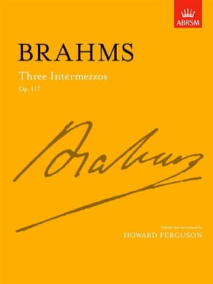 BRAHMS - 3 Intermezzi Op. 117 - Sheet Music - di-arezzo.com