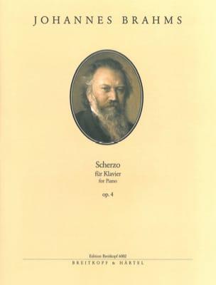 Scherzo Opus 4 - BRAHMS - Partition - Piano - laflutedepan.com
