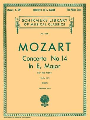 MOZART - Concerto N°14 En Mi Bémol Majeur K 449 - Partition - di-arezzo.fr