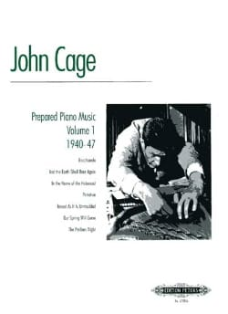 John Cage - Musique Pour Piano Préparé Volume 1 - Partition - di-arezzo.fr
