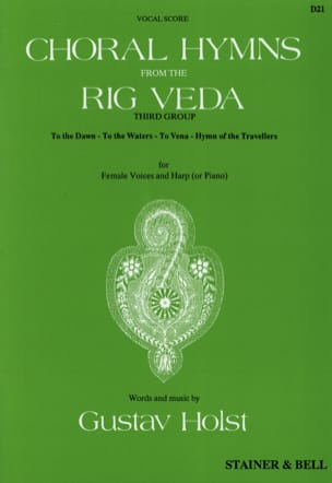 Choral Hymns From The Rig Veda. 3° Groupe HOLST Partition laflutedepan