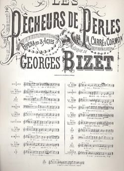 Georges Bizet - O God Brahma. Pearl Fishermen N ° 6 - Sheet Music - di-arezzo.co.uk