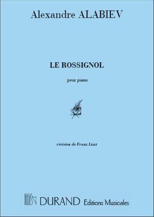 Le Rossignol - Alexandre Alabiev - Partition - laflutedepan.com