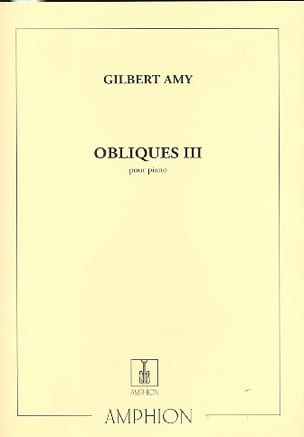 Obliques 3 Gilbert Amy Partition Piano - laflutedepan