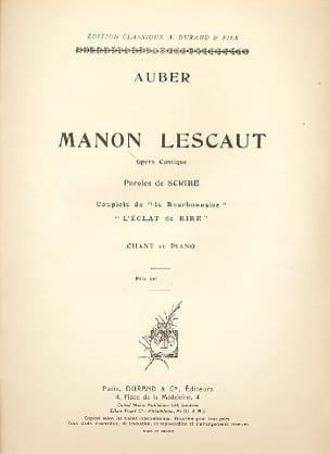 L' Eclat de Rire. Manon Lescaut - Daniel Auber - laflutedepan.com