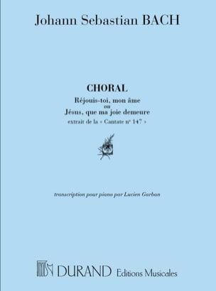 BACH - Cantate 147 Choral Piano (Jésus Que ma Joie Demeure..) - Partition - di-arezzo.fr