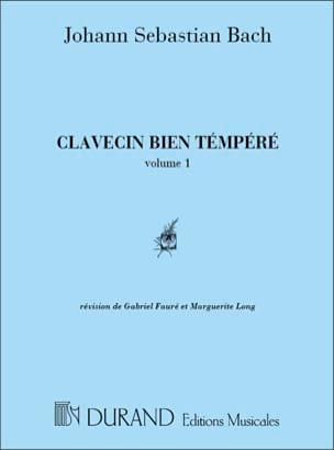 BACH - Das Wohltemperierte Klavier Volume 1 - Partition - di-arezzo.fr