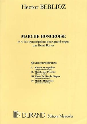 Marche Hongroise BERLIOZ Partition Orgue - laflutedepan