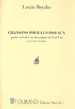 Chansons Pour les Oiseaux. Voix Haute. - laflutedepan.com