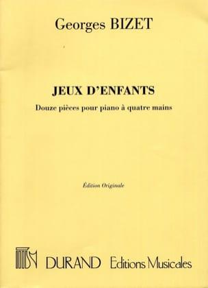 Jeux D'enfants Opus 22. 4 Mains BIZET Partition Piano - laflutedepan