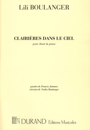 Lili Boulanger - Glades In The Sky - Sheet Music - di-arezzo.com