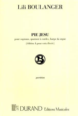 Pie Jesu. Voix Haute - Lili Boulanger - Partition - laflutedepan.com