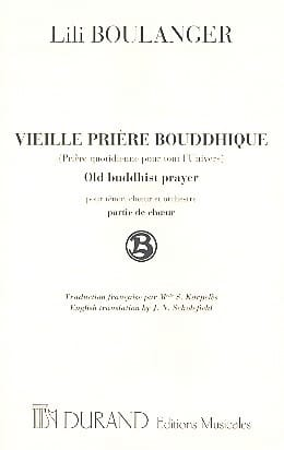 Lili Boulanger - Old Buddhist Prayer. Chorus alone - Sheet Music - di-arezzo.co.uk