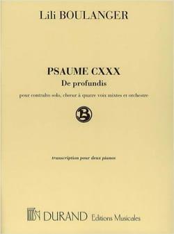 Lili Boulanger - Psaume 130 : de Profundis. - Partition - di-arezzo.fr