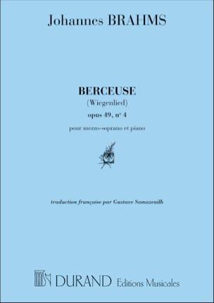 Berceuse Opus 49-4. Voix Moyenne BRAHMS Partition laflutedepan