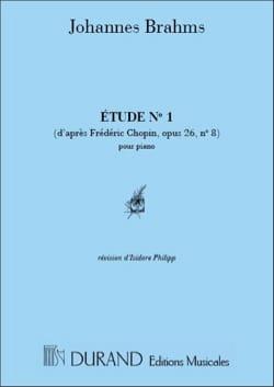 Etude N°1 Piano D'après Chopin - BRAHMS - Partition - laflutedepan.com