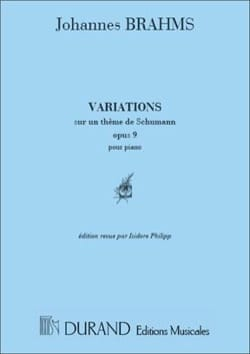 Johannes Brahms - Variations Op. 9 sur 1 Thème De Schumann - Partition - di-arezzo.fr