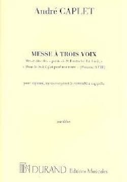 André Caplet - Mass with 3 Voices - Sheet Music - di-arezzo.co.uk