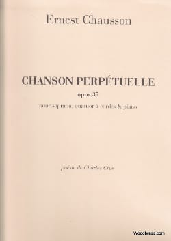 Ernest Chausson - Perpetual Song Opus 37 - Sheet Music - di-arezzo.co.uk