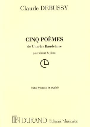 DEBUSSY - 5 Poems of Baudelaire - Sheet Music - di-arezzo.co.uk