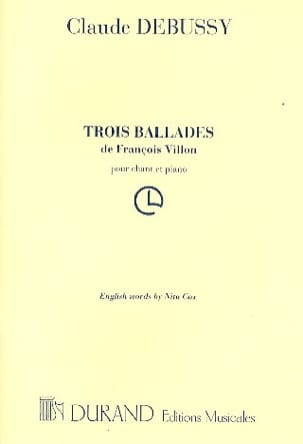 DEBUSSY - 3 Ballades by François VILLON - Sheet Music - di-arezzo.co.uk