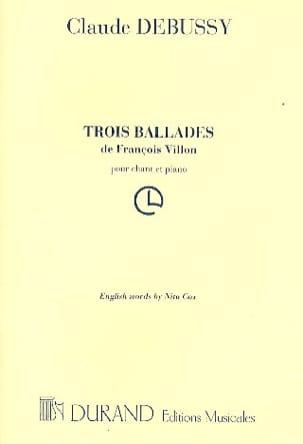 Claude Debussy - 3 Ballades de François VILLON - Partition - di-arezzo.fr