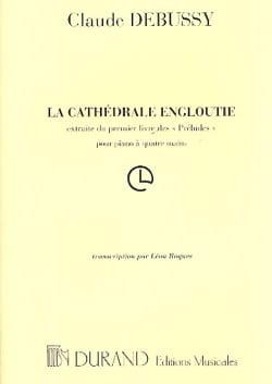 Cathedrale Engloutie. 4 Mains DEBUSSY Partition Piano - laflutedepan
