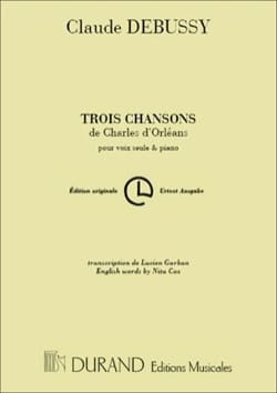 DEBUSSY - 3 Songs of Charles d 'Orléans - Sheet Music - di-arezzo.co.uk