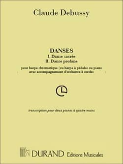 Danses - Claude Debussy - Partition - Piano - laflutedepan.com