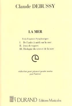Claude Debussy - La Mer. 4 Mains - Partition - di-arezzo.fr