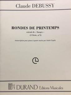 Rondes de Printemps - 4 Mains. DEBUSSY Partition Piano - laflutedepan