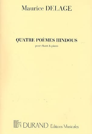 Maurice Delage - 4 Hindu Poems - Sheet Music - di-arezzo.co.uk