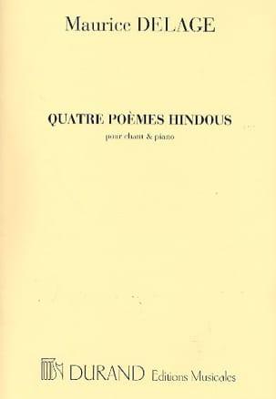 Maurice Delage - 4 Poèmes Hindous - Partition - di-arezzo.fr