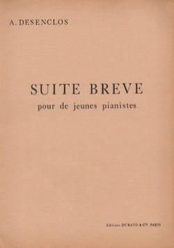 Suite Brève - Alfred Desenclos - Partition - Piano - laflutedepan.com