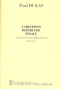 Paul Dukas - Variations Interlude et Finale - Partition - di-arezzo.fr