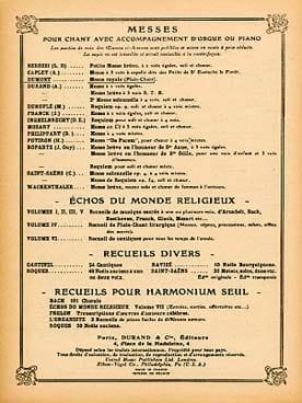 Messe Royale Henry Dumont Partition Chœur - laflutedepan