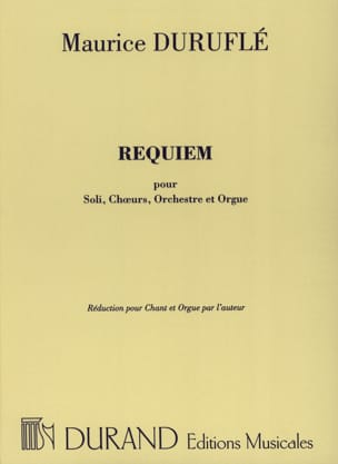 Maurice Duruflé - Requiem Opus 9 Choir and Organ - Sheet Music - di-arezzo.co.uk
