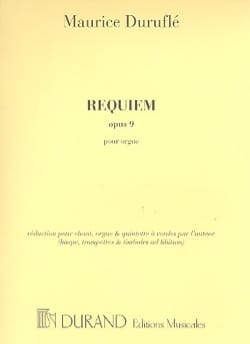 Maurice Duruflé - Requiem Opus 9. Organ part - Sheet Music - di-arezzo.com