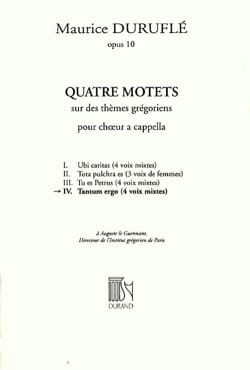 Maurice Duruflé - Tantum Ergo - Partition - di-arezzo.fr