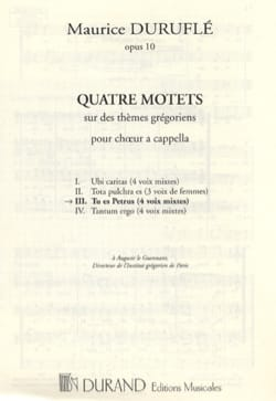 Maurice Duruflé - You are Petrus - Sheet Music - di-arezzo.com