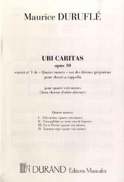 Maurice Duruflé - Ubi Caritas - Sheet Music - di-arezzo.com