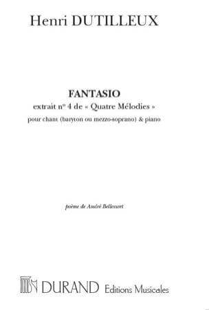 Fantasio DUTILLEUX Partition Mélodies - laflutedepan