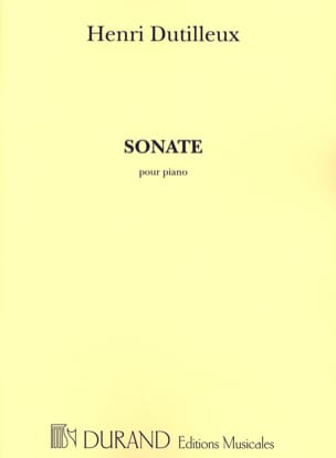 Sonate DUTILLEUX Partition Piano - laflutedepan