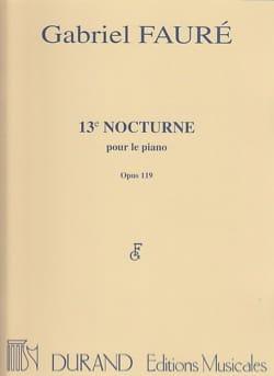 Gabriel Fauré - Nocturne N°13 Opus 119 - 楽譜 - di-arezzo.jp