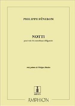 Philippe Fénelon - Notti - Partition - di-arezzo.fr