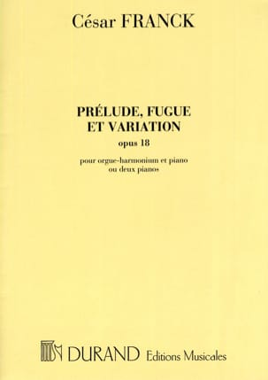 César Franck - Prelude, Fugue and Variations Opus 18. - Sheet Music - di-arezzo.com