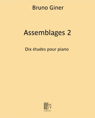 Assemblages 2 - Bruno Giner - Partition - Piano - laflutedepan.com