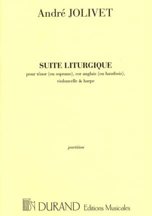 André Jolivet - Suite Liturgique. Conducteur - Partition - di-arezzo.fr