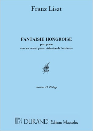 Franz Liszt - Fantaisie Hongroise. 2 pianos - Partition - di-arezzo.fr