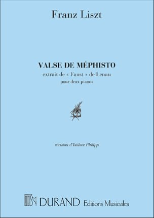 Valse de Méphisto. 2 Pianos. LISZT Partition Piano - laflutedepan